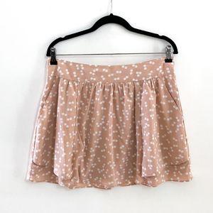 FOREVER 21 Pink Polka Dot Tulip Skirt